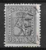 Norvège 1867 - AFA 13 - Oblitéré