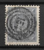 Danemark 1879 - Tj 5a - Oblitéré