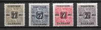 Danemark 1918 - AFA 85X-89X - Neuf