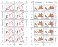 Monaco - OL i Sidney - Postfrisk sæt á 2 10-ark