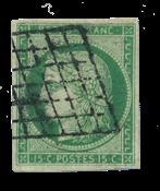 France - 1850 -  Y&T 2, oblitéré