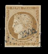 France - 1850 - Y&T 1a, oblitéré