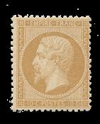 France - 1862 - Y&T 21, neuf avec charnière