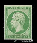 France - 1854 - Y&T 12, neuf avec charnière