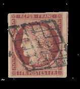 France - 1850 - Y&T 6, oblitéré