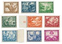 Tyske Rige - 1933 - Michel 499-507 - Postfrisk