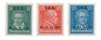 Tyske Rige - 1927 - Michel 407-09 - Ubrugt