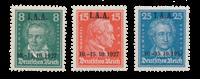 Empire Allemand - 1927 - Michel 407/09, neuf avec charnière