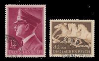 Tyske Rige - 1942 -  Michel 813, 815 - Stemplet
