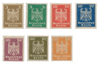 Deutsches Reich - 1924 - Michel 355-61 - Postituoreena