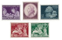 Empire Allemand - 1941/1942 -  Michel 810/812, 816/817, neuf