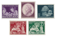 Tyske Rige - 1941-1942 -  Michel 810-812, 816-817 - Postfrisk