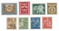 Empire Allemand - 1943 -  Michel 828/830, 843, 850/853, neuf