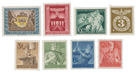 Deutsches Reich - 1943 - Michel 828-830,843,850-853 - Postituoreena