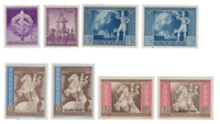 Deutsches Reich - 1942 - Michel 818-825 - Postituoreena