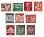 Empire Allemand - 1943 -  Michel 854/863, neuf