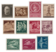 Deutsches Reich - 1944 - Michel 864-872 - Postituoreena