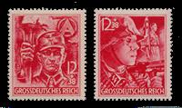 Tyske Rige - 1945 -  Michel 909-910 - Postfrisk