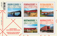 Canada - Historic Covered Bridges - Mint souvenir sheet
