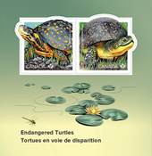 Canada - Endangered Turtles - Mint souvenir sheet