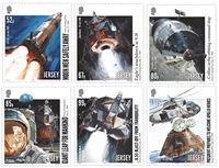 Jersey - Moon landing, 50th anniversary - Mint set 6v