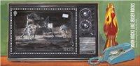 Jersey - Månelandingen - Postfrisk miniark 1v