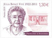 Fransk Andorra - Julia B.Fite - Postfrisk frimærke