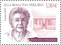 Andorre Francais - Julia B. Fite - Timbre neuf