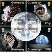 Guernsey - Månelandingen - Postfrisk sæt 4v