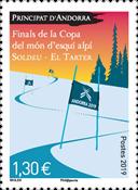 Fransk Andorra - Ski VM - Postfrisk frimærke