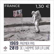 France - Moon landing, 50th anniversary - Mint stamp