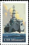 Etats-Unis - USS Missouri - Timbre neuf