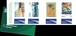 Irlande - 4 timbres *W*/international - Carnet neuf