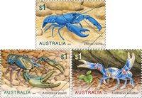 Australien - Ferskvandskrebs - Postfrisk sæt 3v