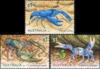 Australia - Cangrejos de rio - Serie 3v. nuevo