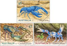 Australia - Freshwater crayfish - Mint set 3v