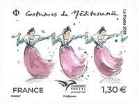 France - Costumes nationaux - Timbre neuf