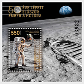 Hungary - Moon landing, 50th anniversary - Mint souvenir sheet