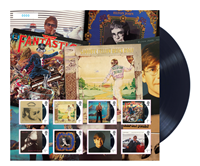 Great Britain - Elton John Album Fan - Mint sheet printed qty 7500
