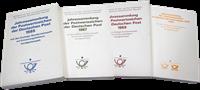 DDR - 4 årbøger med FDC kort 1985, 1987, 1989, 1990