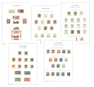 Danemark - Collection en album Leuchtturm avec pochettes