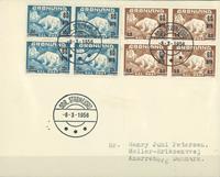 Groenland - EPJ Ours polaire bloc de 4, timbres provisoires