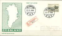 Grønland - FDC moskusokse 25 øre