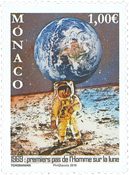 Monaco - Moon landing, 50th anniversary - Mint stamp