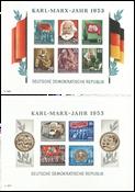 GDR - 2 mint souvenir sheets 1953