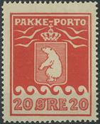 Grønland - 1923 pakkeporto 20 øre