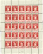 Greenland - Complete sheet parcel stamps