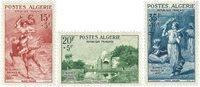 Algerie YT 346-48 Algérie 1957, oeuvres sociales armée