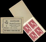 Danmark - 2 kr hæfte stålstik  - afa nr.13