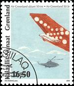 Grønland - Air Greenland - Stemplet frimærke